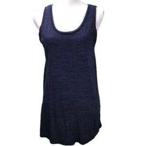 Maison Jules Women Fitted Tank Top Denim Heather L